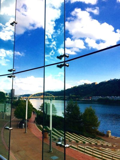Pittsburgh Pittsburgh River Ohio River Cityscape City Casino Rivers Casino Point Park The Point Fountains Pittsburgh Skyline Clouds And Sky Window Window view EyeEmNewHere The Great Outdoors - 2018 EyeEm Awards