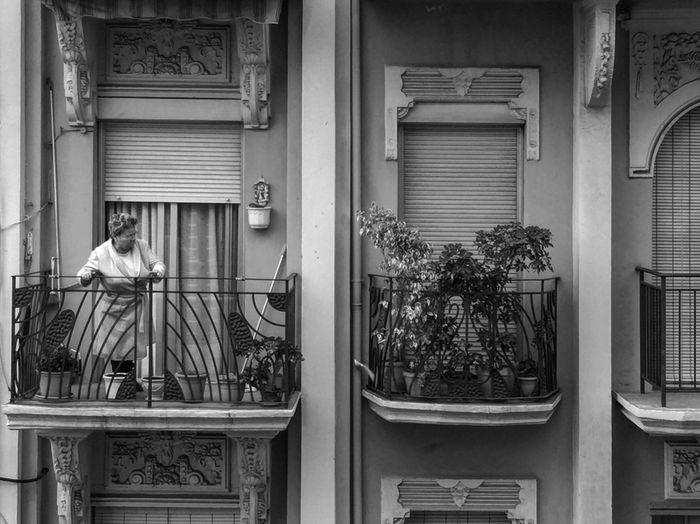 Man with open door