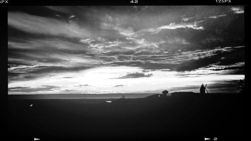 Charente_maritime Monochrome Sunset Mortagne