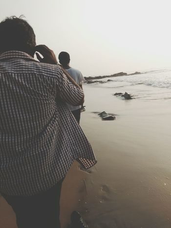 Rear View Water Sky Reflection Adult Human Body Part People Adults Only Outdoors Nature One Person Women Men Day Only Men Human Hand Sea Live For The Story