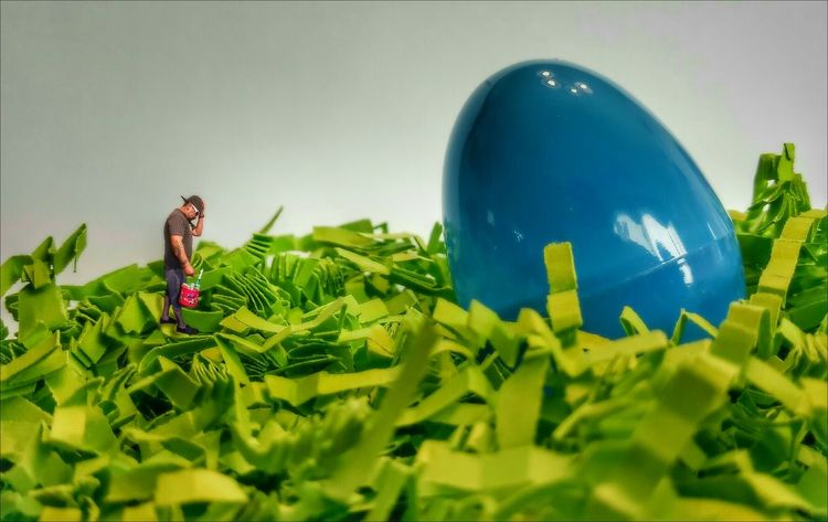 That's not gonna fit in my Easter Basket 😭😂 Happy Easter my Awesome EyeEm Family 🐇 Playing With Edits Easter Ready BIG Blue Egg Green Grass Exceptional Photographs EyeEm Best Shots