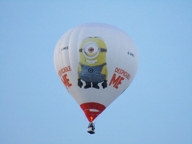 Dispicable Me Hot Air Balloon Adventure Travel Bristol Uk Transportation Bristol Balloon Festival  Relaxing Taking Photos Summer Memories 🌄 Hot Air Balloons Evening Sky