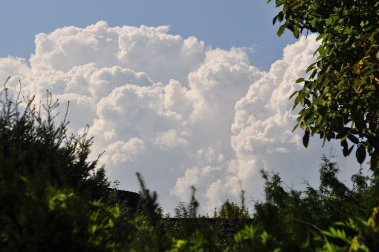 Ein Sommertag geht zu Ende, das Gewitter naht.Clouds, Summer