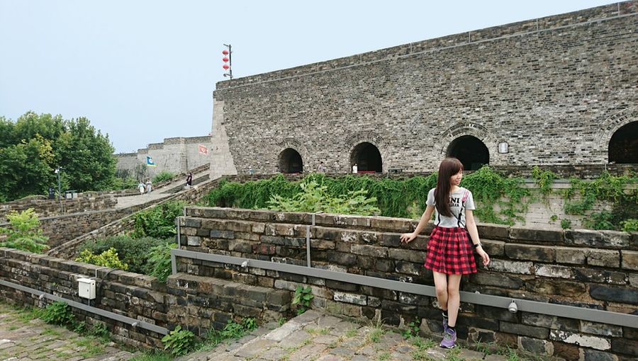 Ancient city walls, Nanjing. City Walls one person Outdoors Chinese Style Nanjing.China Travel Travel Destinations Architecture