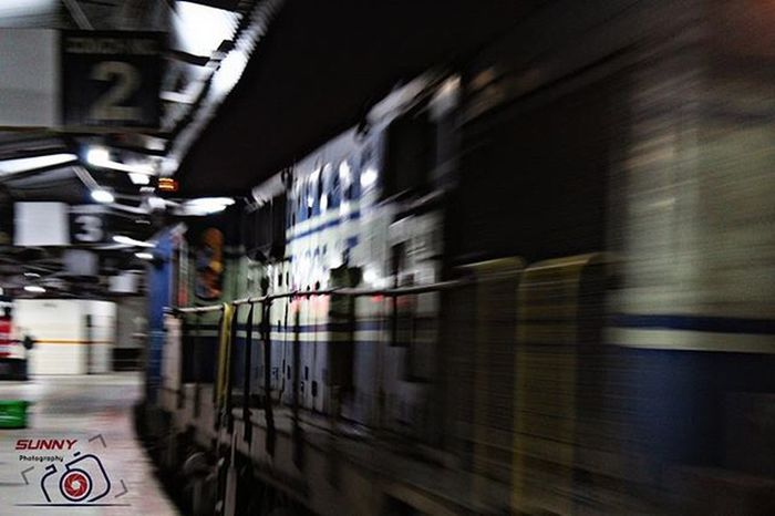 "In Motion... Shutter Speed: 1""(sec) Train Ig_karnataka Canon Sunny_Frames"