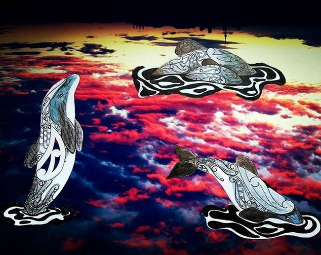 Final hours 😢 ft the Endangered Maui's dolphin and a sunset over Auckland city Sunset Sunsets Colours Dolphin Endangeredspecies Mauisdolphins Sunset_madness Followme Artist_4_shoutout Artofdrawingg Arts_help Creative_animalart Photographer Auckland Upsidedown Love Passion Fishing Followforfollow Fashion Maori Tattooart Whales Featuregalaxy Haveaheart mural skyporn skyline hypemyart epic