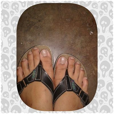 my creepy feet improve.?? From white to Brown. ???❤ btw...otw to choral practice