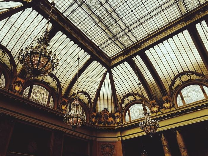 Architecture Ceiling Low Angle View The Palace Hotel First Eyeem Photo
