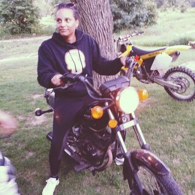 @sailorjayy learning how to ride a dirtbike, looking dubious at best. ♡