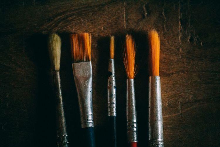 Brush Brush Art Art And Craft Equipment Painting Brushes Artist Art And Craft ArtWork Close-up Fine Art Painting Paintbrush Painter - Artist Art Studio