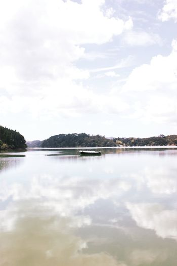 Cloud - Sky Lake Water Tranquility Sky Outdoors Landscape Nature Scenics Day Tranquil Scene No People Beauty In Nature Tree Newzealandphotography Newzealand Newzealandauckland New Zealand Vacations Beauty In Nature Blue