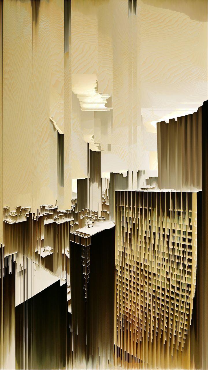 MODERN BUILDINGS AGAINST SKY SEEN FROM WINDOW
