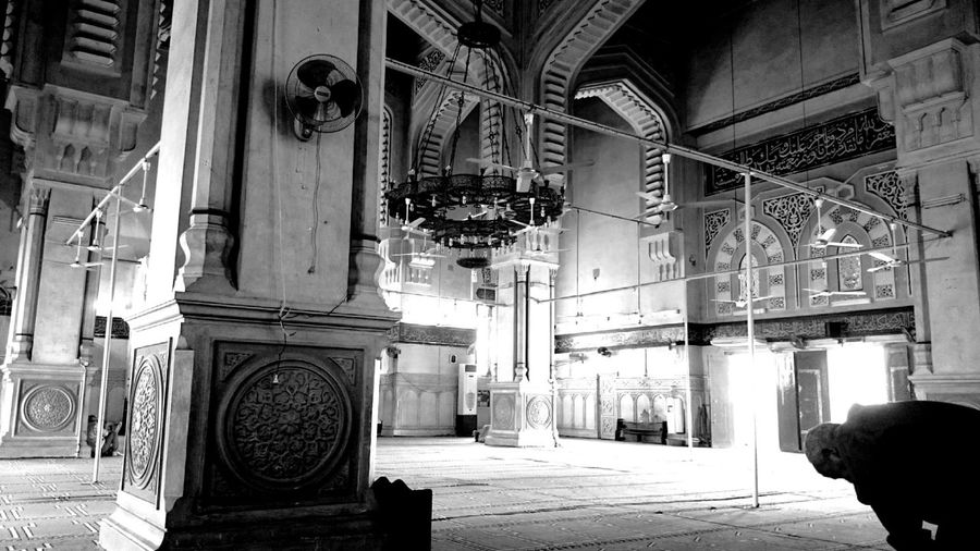 Mosque Black & White Phone Z2 Picsart Pray Calm Photography Cameraphone Old Structure Light And Shadow Prayer Art Egypt Islamic Architecture Islamic Art