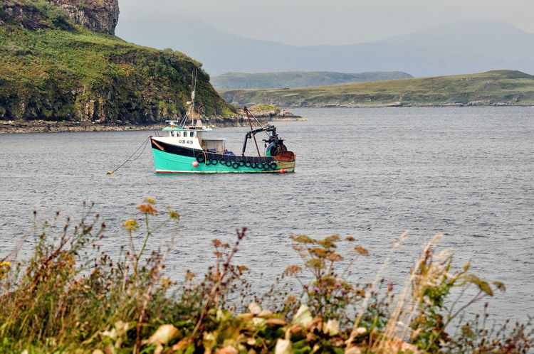 Moored boat at Portnalong, Isle of Skye Highland Scotland Skye Boat Fishing Fishing Boat Highlands Of Scotland Nautical Vessel No People Non-urban Scene Scottish Highlands Sea Tranquility Water