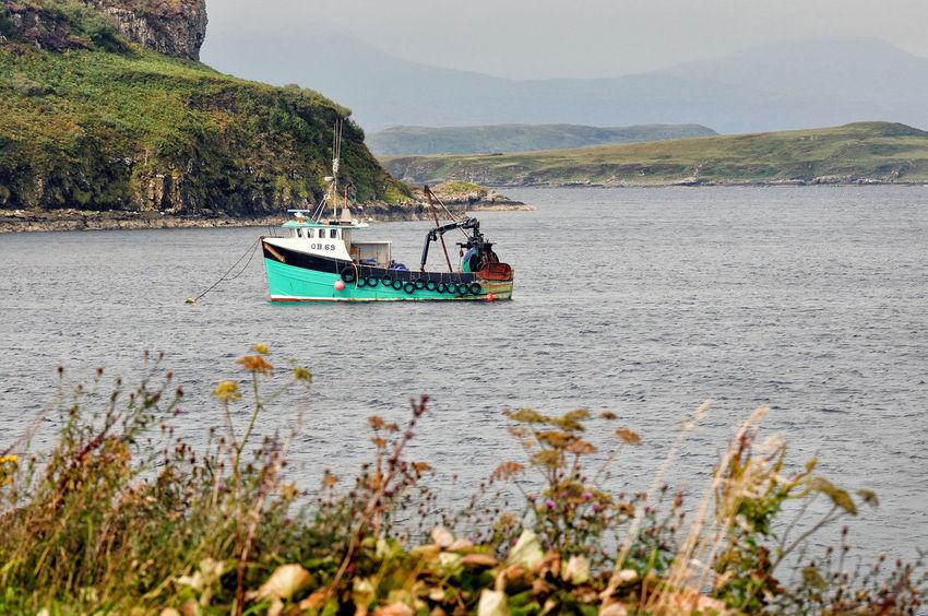 Moored boat at Portnalong, Isle of Skye Highland Scotland Skye Boat Fishing Fishing Boat Highlands Of Scotland Nautical Vessel No People Non-urban Scene Scottish Highlands Sea Tranquility Water