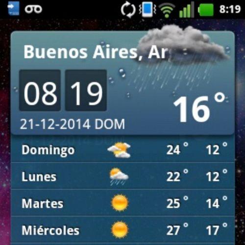 Eltiempo en Buenosaires Lluvia Frio Domingo