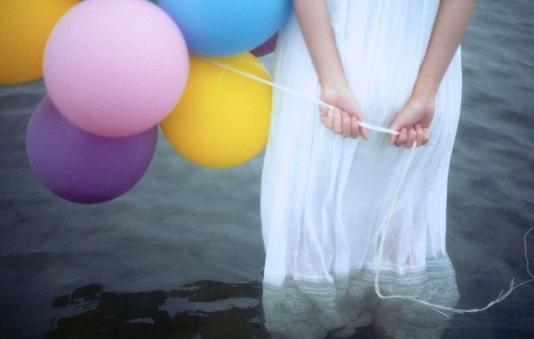 35mm Film Film EyeEm Best Shots Sea Beach Myfriend Balloons Colorful