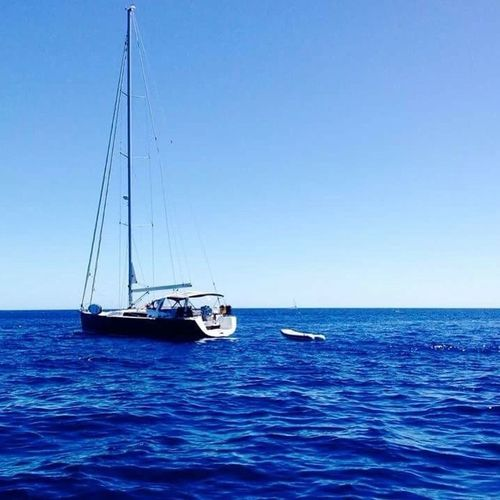 Sea Nautical Vessel Horizon Over Water Blue Water Sailboat Clear Sky First Eyeem Photo