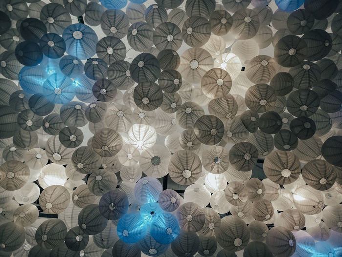 Lanterns of Libis Lanterns The Mobile Photographer - 2019 EyeEm Awards Backgrounds Full Frame Blue Pattern Close-up Detail