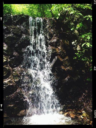 Relaxingng Healing Hill Climbing Waterfall