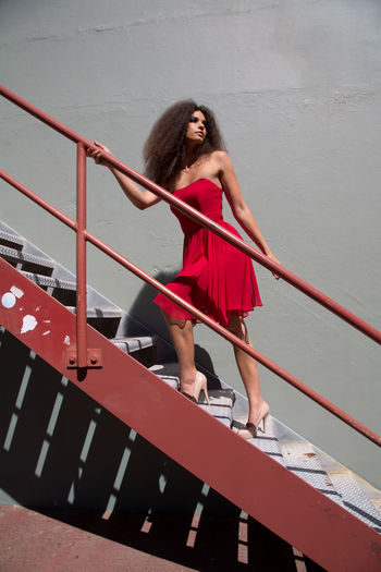 Marie-Claire :) Beautiful Woman Beauty Brown Hair Clothing Dress Fashion Fashion Photography Fashion&love&beauty Full Length Hair Hairstyle Long Hair Mini Dress One Person Outdoors Red Transportation Women Young Adult Young Women The Fashion Photographer - 2018 EyeEm Awards