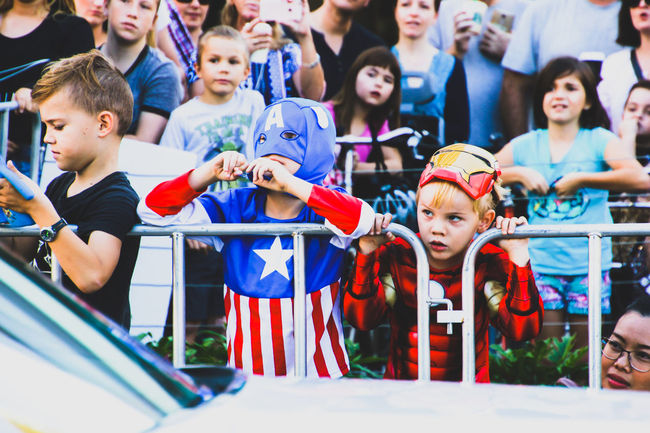 Arts Culture And Entertainment Boys Childhood Children Close-up Costume Day Event Fancy Dress Halloween Ironman Large Group Of People Outdoors People Real People Spectator Street Street Photography Supanova Superhero Superheroes The Street Photographer - 2017 EyeEm Awards