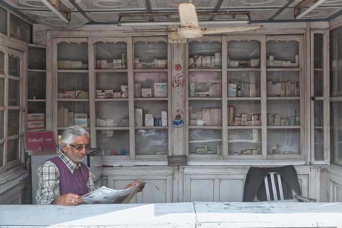 Pharmacy in Varanasi Uttar Pradesh. January 20, 2017. Portrait People Working Street Photography Streetphotography People Photography EyeEm Best Shots - People + Portrait Varanasi Check This Out Storytelling India Travel Documentary Incredible India Indian Travel Photography