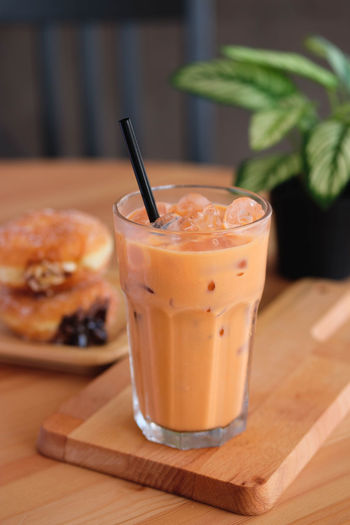 Food And Drink Food Drinking Straw Straw Drink Refreshment Drinking Glass Household Equipment Table Glass Healthy Eating Freshness Focus On Foreground Indoors  Wellbeing No People Fruit Close-up Milk Dairy Product Breakfast Latte Milk Tea