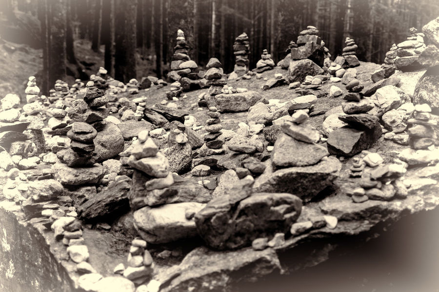 Beauty In Nature Human Signs Large Group Of Objects No People Outdoors Rock - Object Stone - Object Tranquility