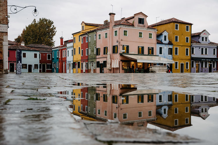 Venice Venice, Italy Building Exterior Architecture Built Structure Water Building Residential District City Canal Nature No People Sky Day House Waterfront Reflection Outdoors Transportation Row House