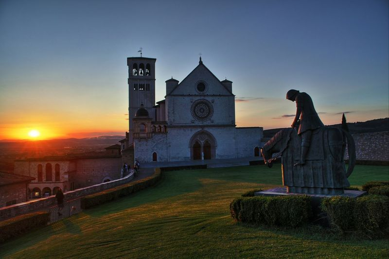 Assisi Fantasy Dusk Travel Destinations Sunset People Architecture Outdoors Adults Only Adult One Person Assisi Italy Basilica Saint Francis Of Assisi Church Catholic EyeEm Best Shots EyeEmBestPics EyeEm First Photo
