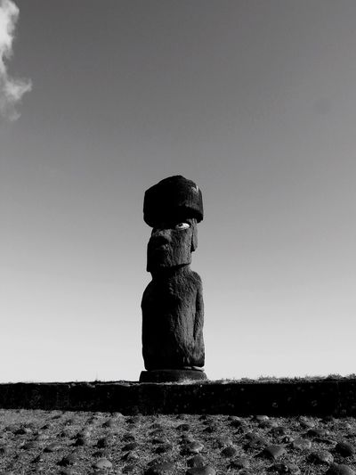 Ahu Ko Te Riku Rapanui  Nature Sky Day Outdoors Clear Sky Easter Island Stack Moai No People
