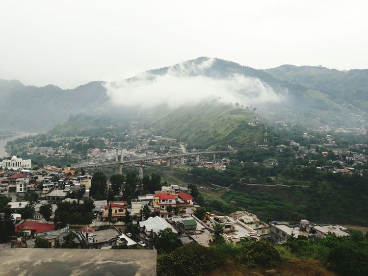 Cloud on mountain of azad Kashmir