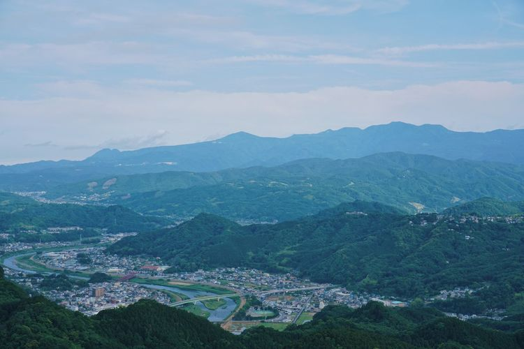 Processed with VSCO with l4 preset Mountain Scenics - Nature Beauty In Nature Sky Mountain Range Environment Nature Landscape Tranquil Scene Cloud - Sky No People Day Tranquility Architecture Aerial View Non-urban Scene Idyllic Outdoors Land