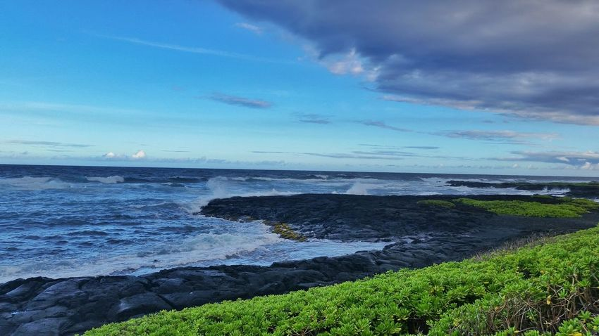 Hawaii Solo Traveler! Travel Photography Vacation Check This Out Outdoors Ocean Waves Blue Beach Ocean Black Sand Beach
