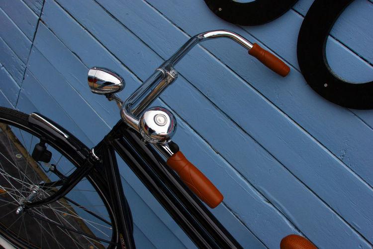 Extreme close up of bicycle handlebar