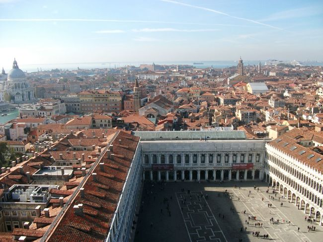 Travel Destinations Architecture City Cityscape Building Exterior Tourism Built Structure High Angle View Venice Italy View Urban Skyline History Outdoors Sky Travel Photography Square