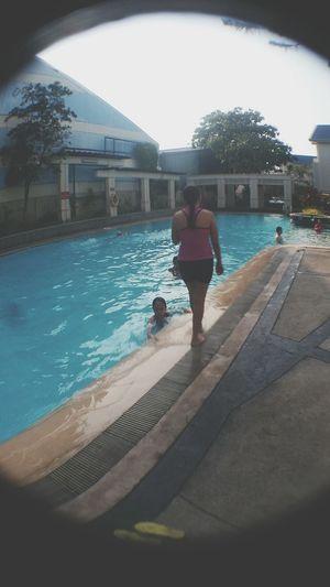 swimming moment