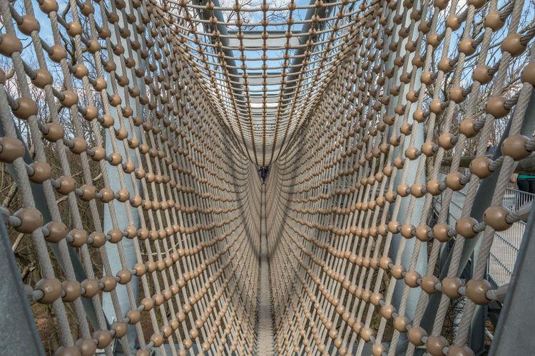View of rope bridge interior