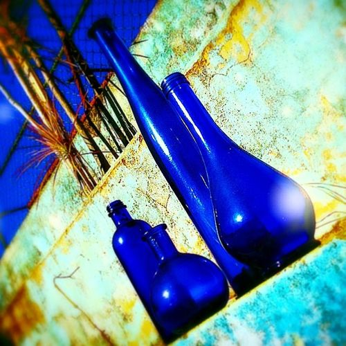 Garrafas Azul Bottles Blue objetos coisas objects things instagood instamood instadaily instamoment insragramers