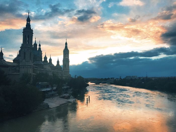 Cathedral Sky Cloud - Sky Architecture Building Exterior Religion Built Structure Nature Sunset Travel Destinations Building Water Tower Belief The Past Place Of Worship Spirituality History Tourism Travel No People