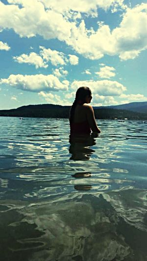 Braided Water One Person Rear View Sky Real People Lifestyles Leisure Activity Cloud - Sky Women Nature Outdoors Sea Day Full Length Vacations Young Women Beauty In Nature Young Adult Adult People