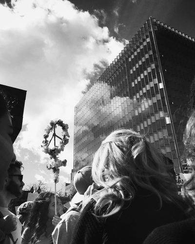 Yes We Can Together Love From My Point Of View Real People Architecture Cloud - Sky City Women's March Los Angeles Inspirational Moment Peace Democracy Photo Journalism Shootermag Popular Photos A Week On Eyeem Eyeem Collections Streetphotography Blackandwhite