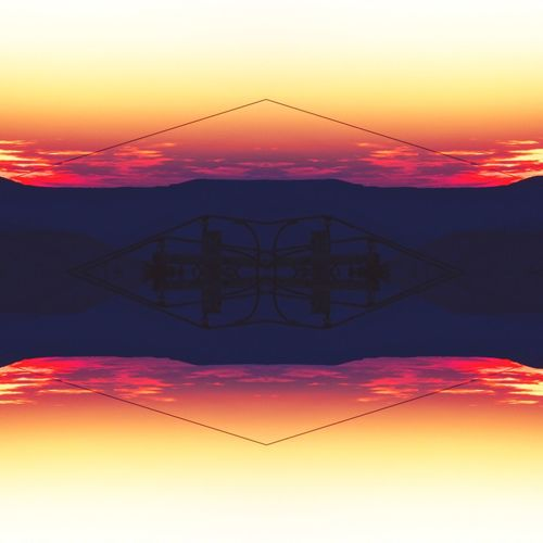 Zen Diagram Mirrored Mirror Abstract Sunset_collection Sunset Sky Orange Color Nature Beauty In Nature No People Water Cloud - Sky Tranquility Scenics - Nature Outdoors Symmetry Tranquil Scene Silhouette Idyllic Purple Non-urban Scene