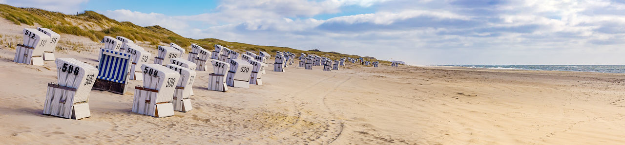 Rotes Kliff - Sylt, Germany Beach Photography Beach Time Deutschland Panorama Rotes Kliff, Kampen Rotes Kliff, Sylt Sylt Germany Sylt Strand Sylt, Germany Beach Beach Chairs Cloud - Sky Landscape No People North Sea Outdoors Sand Sea Summer Sylt Tourism Tourist Destination Travel Destinations Vacation Water