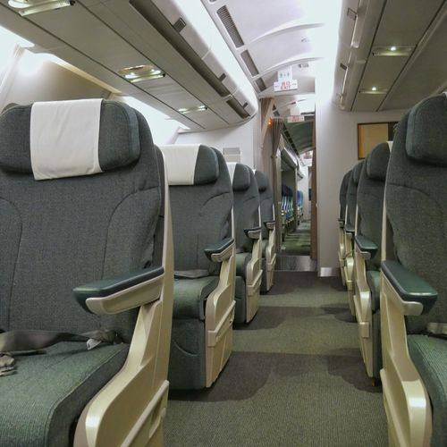 Airplane Vehicle Seat Transportation Travel Indoors  Luxury Commercial Airplane Air Vehicle Business Flying Airplane Seat People Cathaypacificairways Cathay Pacific