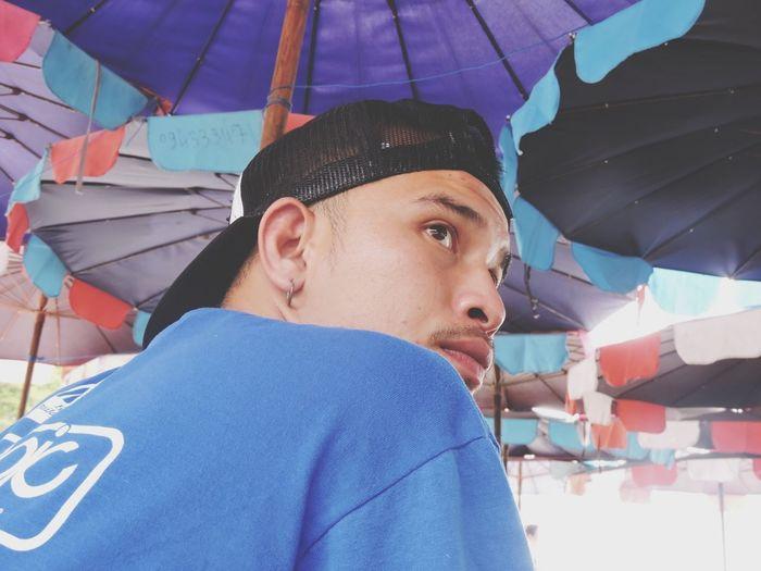 Real People One Person Portrait Lifestyles Leisure Activity Headshot Umbrella