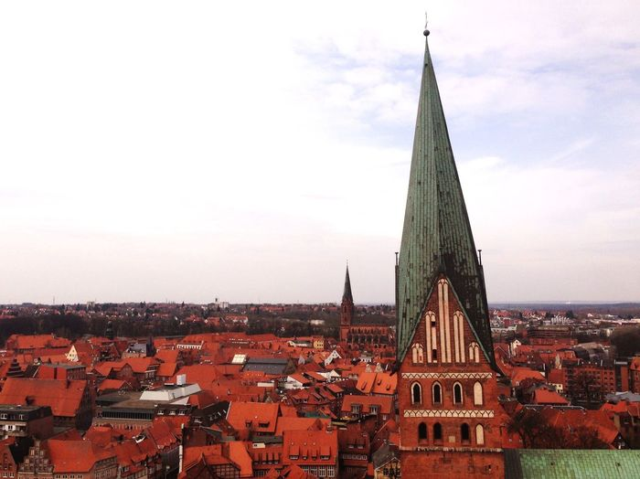 Church Against Buildings In Luneburg