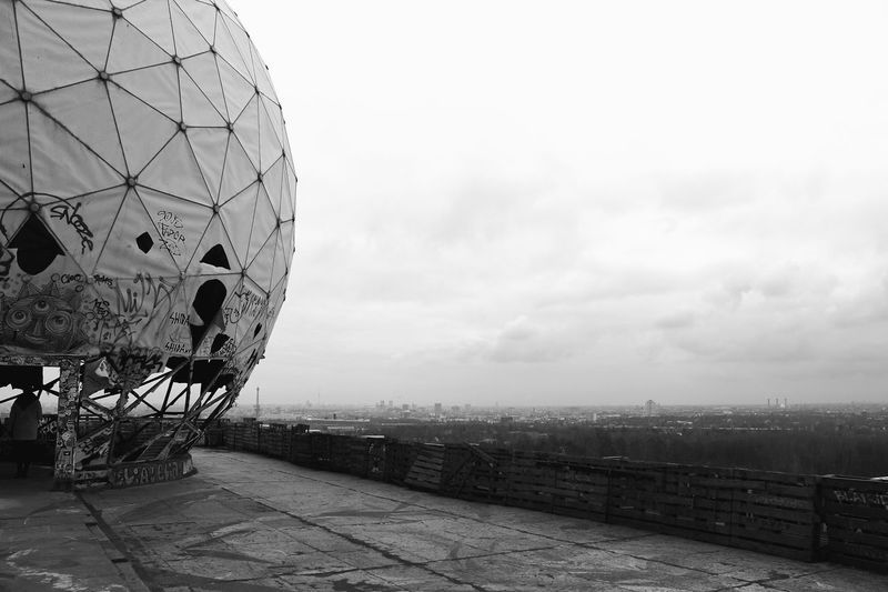 EyeEmNewHere Blackandwhite Architecture Communication Built Structure Radar Sky Building Exterior No People Outdoors City