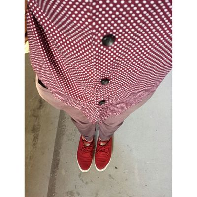 Oh my red shoes, I finally wore you to work. Ootd WIWT Red